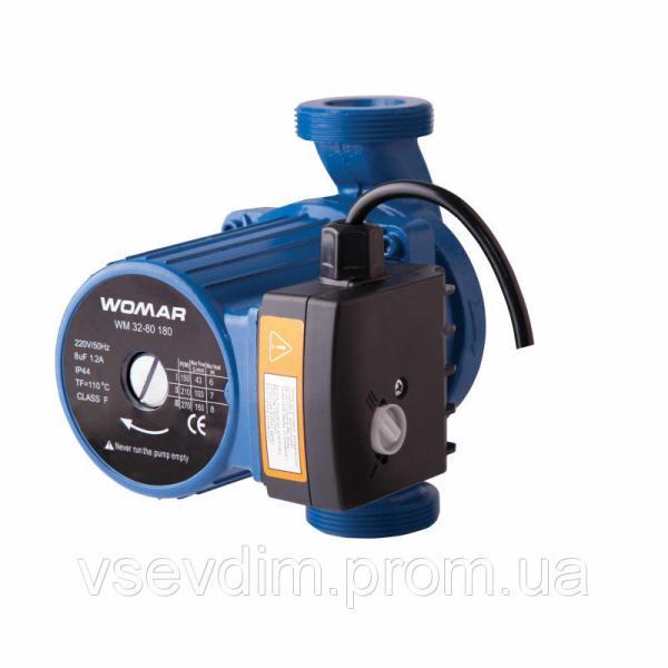 Насос циркуляционный WOMAR 32/80/180 ( гайки + кабель с вилкой )