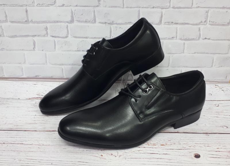 Мужские кожаные черные туфли. Польша