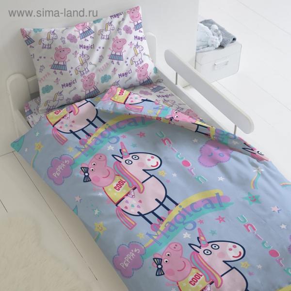 Детское постельное бельё 1,5 сп Свинка Пеппа «Волшебный сон»