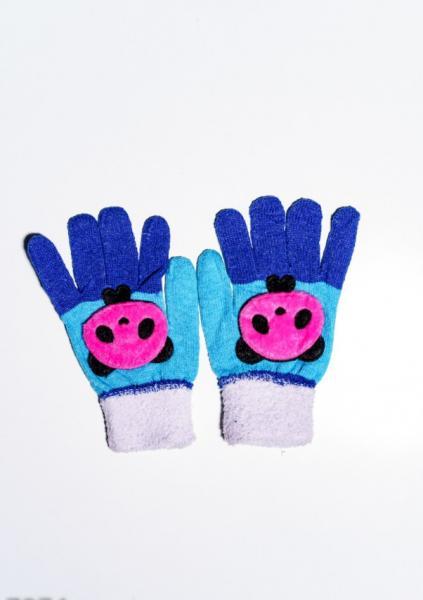 Детские перчатки и варежки ISSA PLUS 7874  Universal белый/бирюзовый