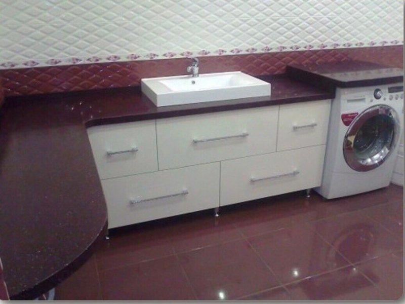 Столешницы из искусственного камня для ванной на заказ в гродно