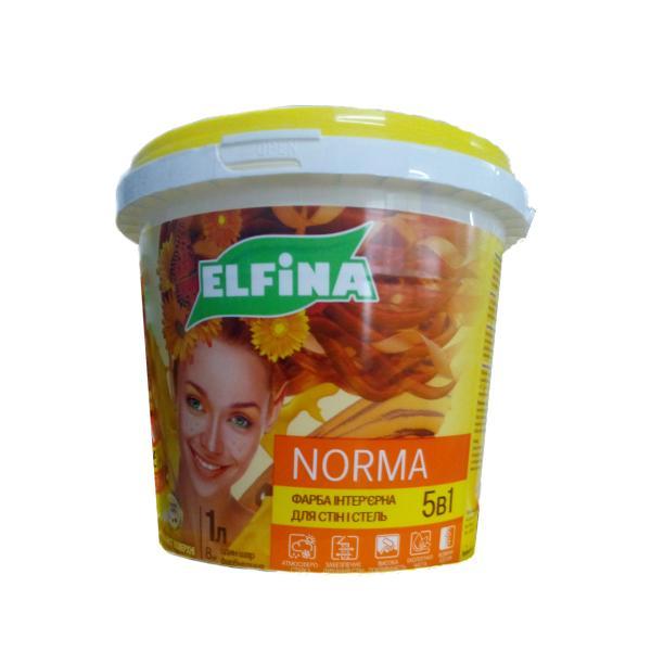 Краска интерьерная для стен и потолков Elfina Norma 4.2кг