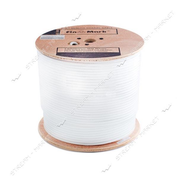Кабель телевизионный FinMark F690BVcu cuprum 305м white