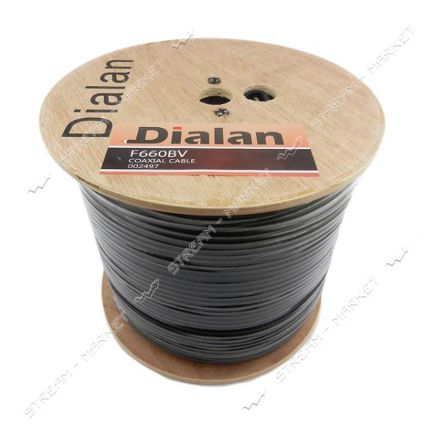 Кабель телевизионный Dialan F660BV 100м black