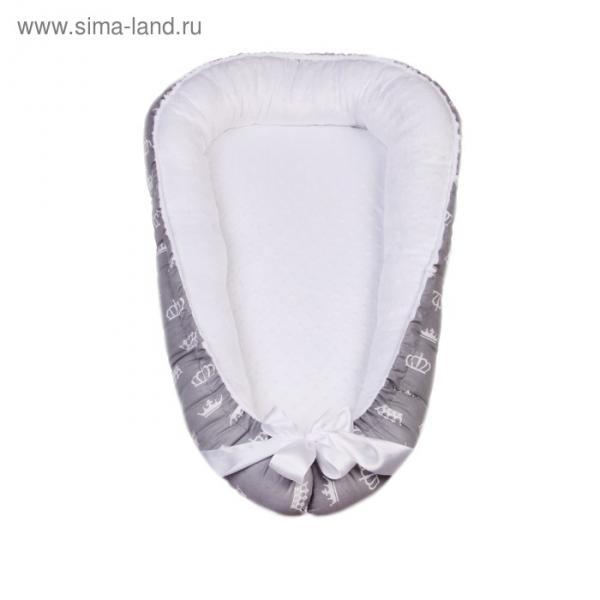Гнёздышко-кокон Prestige Baby, размер 35×65 см, серый/белый