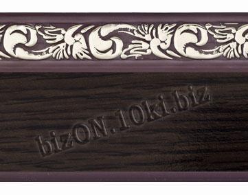 Бленда   Ажур «Венге», ширина = 5 см, Декоративная лента для потолочного карниза