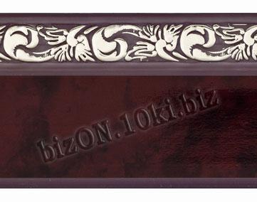 Бленда   Ажур «Махагон», ширина = 5 см, Декоративная лента для потолочного карниза