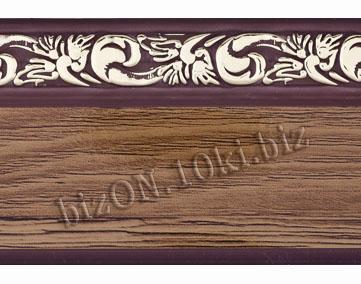 Бленда   Ажур «Орех Темный», ширина = 5 см, Декоративная лента для потолочного карниза