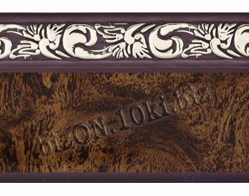 Фото Карнизы Пластиковые Потолочные Бленда   Ажур «Африканский Корень», ширина = 5 см, Декоративная лента для потолочного карниза