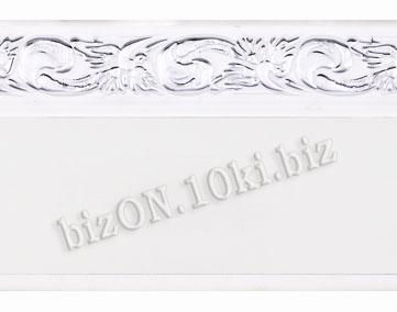 Бленда   Ажур «Белый + Серебро», ширина = 5 см, Декоративная лента для потолочного карниза