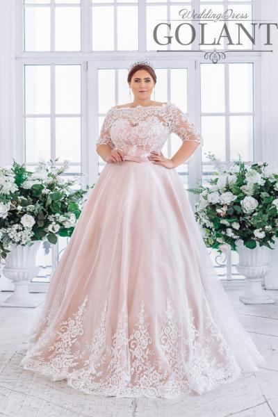 Свадебное платье для полных с рукавами Екатерина