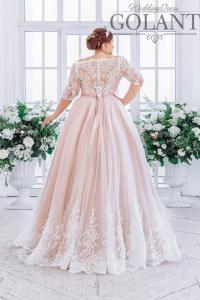 Фото Свадебные платья Свадебное платье для полных с рукавами Екатерина