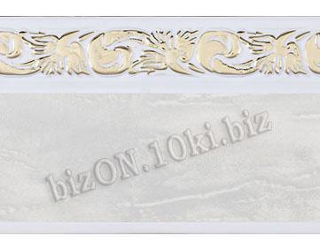 Бленда   Ажур «Мрамор + Золото», ширина = 5 см, Декоративная лента для потолочного карниза