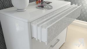Фото  ТриЯ-Комод с 3-мя ящиками «Амели» (Белый глянец)