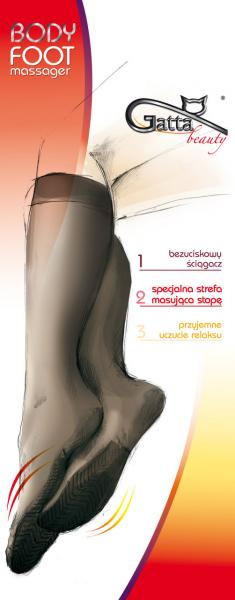 Гольфы без рисунка PODKOLANÓWKI GATTA BODY FOOT MASSAGE Женская одежда Польша