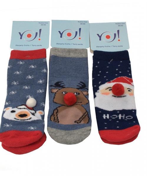 Детские носки для мальчиков SKARPETY YO! SKF FROTTE ŚWIĄTECZNE CH Детское белье и одежда Польша