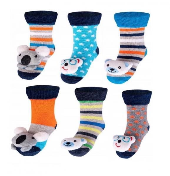 Детские носки для мальчиков SKARPETY YO! SKF-TOYS FROTTE Z GRZECHOTKĄ BOY Детское белье и одежда Польша