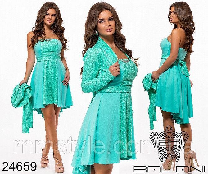 Вечернее платье-двойка - 24659