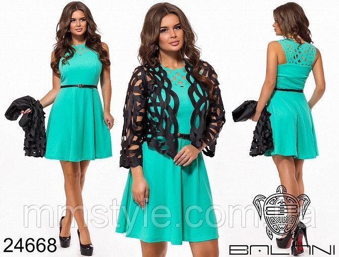 Вечернее платье-двойка - 24668