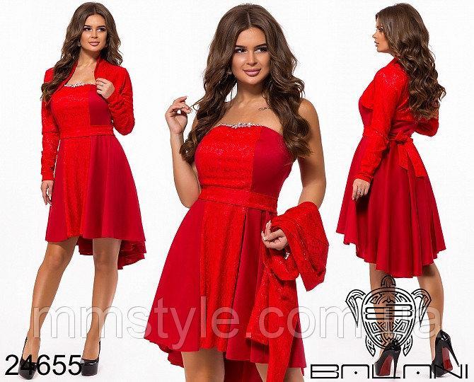 Вечернее платье-двойка - 24655