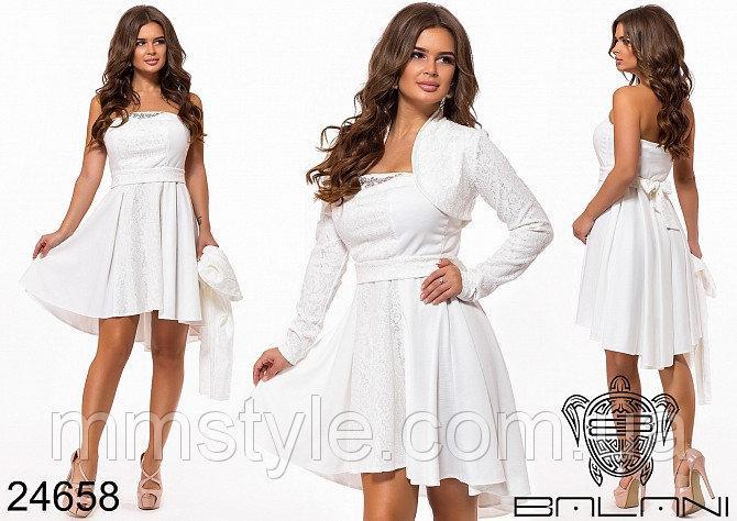 Вечернее платье-двойка - 24658