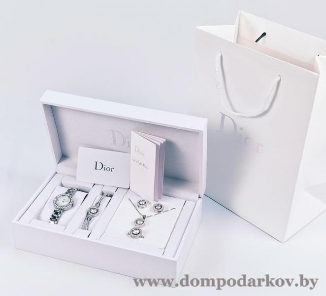 Фото ПОСМОТРЕТЬ ВЕСЬ КАТАЛОГ, Хиты продаж / Топ, Бижутерия / украшение Хит  Набор женских украшений Dior Silver