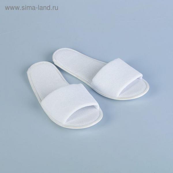 Тапочки махровая ткань,  поролон 3 мм., картон  43 размер