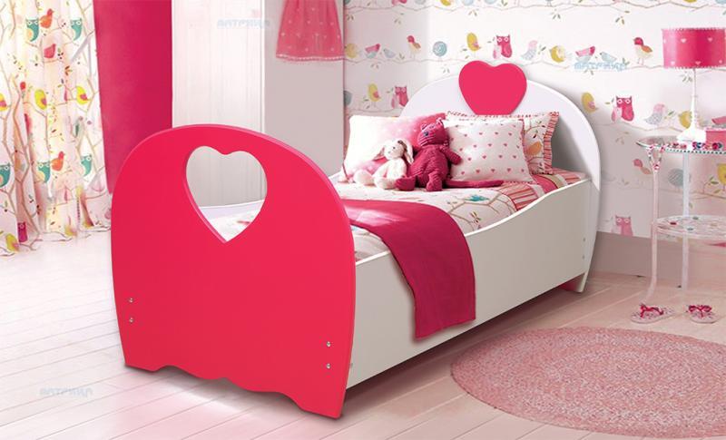 Фото Детская мебель Кровать детская Сердце 1,6м, 1,9м (Матрица)
