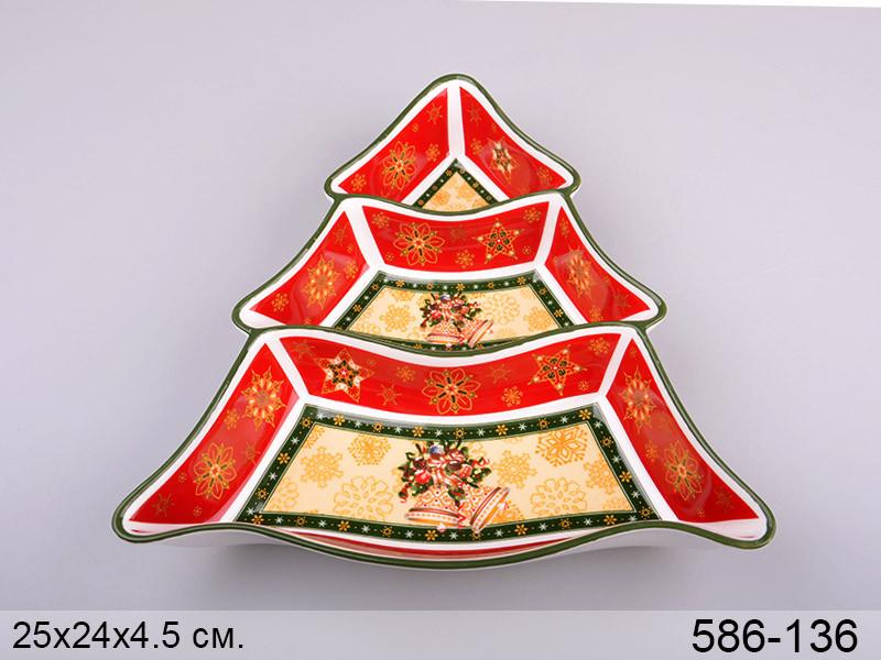 Менажница Lefard Christmas collection 25 см , 586-136