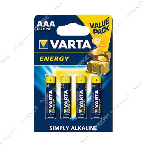 Батарейка Varta High Energy щелочная AAA/LR03 ('микропальчик') (уп.10 шт. цена за уп.) блистер