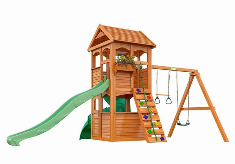 Детский комплекс Клубный домик горка труба