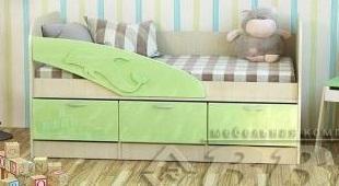 Фото Детская мебель Детская кровать Дельфин -1 МДФ 1,6м (ВВР)