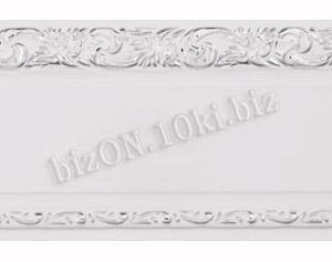 Бленда   Ажур «Белый + Серебро», ширина = 7 см, Декоративная лента для потолочного карниза