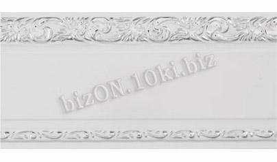 Фото Карнизы Пластиковые Потолочные Бленда   Ажур «Белый + Серебро», ширина = 7 см, Декоративная лента для потолочного карниза