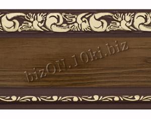 Бленда   Ажур «Орех Темный», ширина = 7 см, Декоративная лента для потолочного карниза
