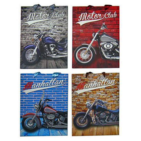 Пакет подарочный В4 Мотоцикл Микс /Код 774