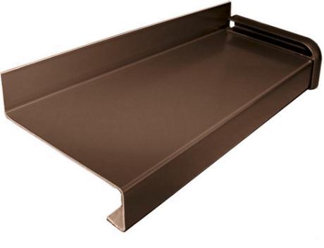 Водовідлив металевий оцинкований з полімерним покриттям білий/коричневий