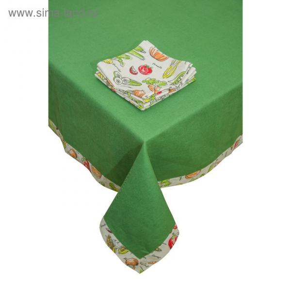 Набор кухонный «Овощное рагу»: скатерть 150 × 150 см, салфетки 40 × 40 см - 4 шт