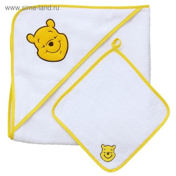 Набор для купания «Чудесный день», пелёнка 75х75 см, рукавичка, жёлтый