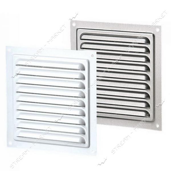 Решетка вентиляционная VENTS МВМ 125 металлическая оцинкованная крашеная белая