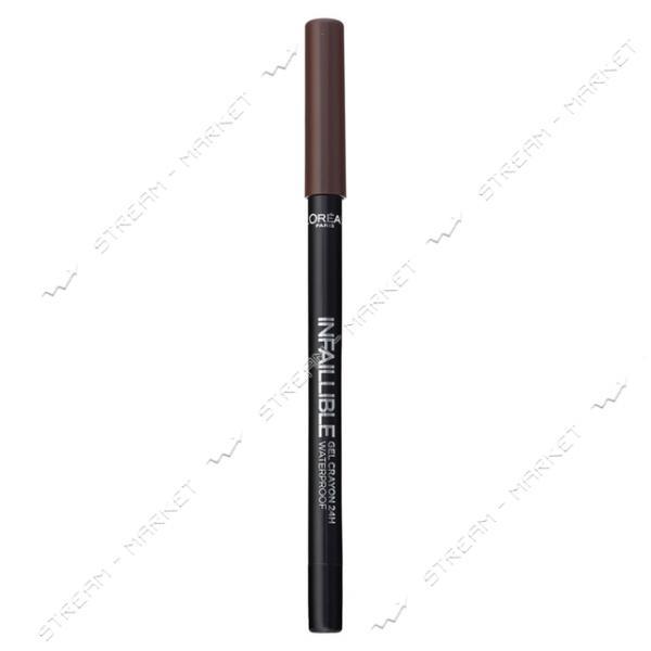 """Карандаш для глаз L""""Oreal Paris Infallible 03 Гелевый коричневый 0.9г"""