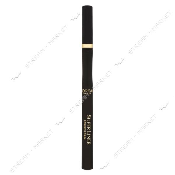 """Подводка-маркер для глаз L""""Oreal Paris Super Liner Perfect Slim Экстра-черная 1мл"""