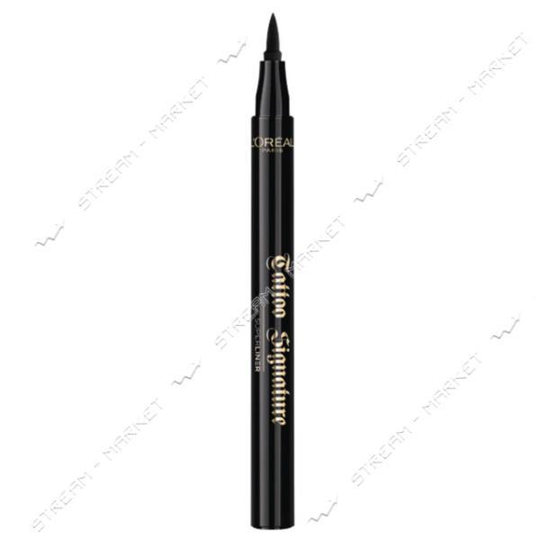 """Подводка-маркер для глаз L""""Oreal Paris Super Liner Tattoo Signature черная 1мл"""