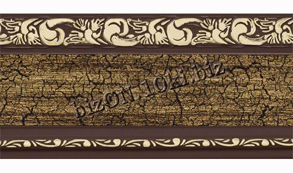Фото Карнизы Пластиковые Потолочные Бленда   Ажур «Кракелюр 12», ширина = 7 см, Декоративная лента для потолочного карниза