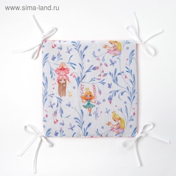 Бортик Крошка Я «Милые принцессы» (32×32 см х 12 шт.) бязь/синтепон