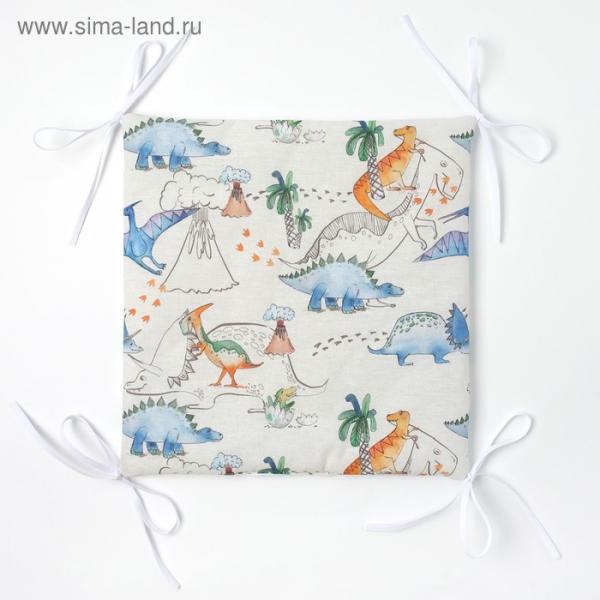 Бортик Крошка Я «Динозавры» (32×32 см - 12 шт.) бязь/синтепон