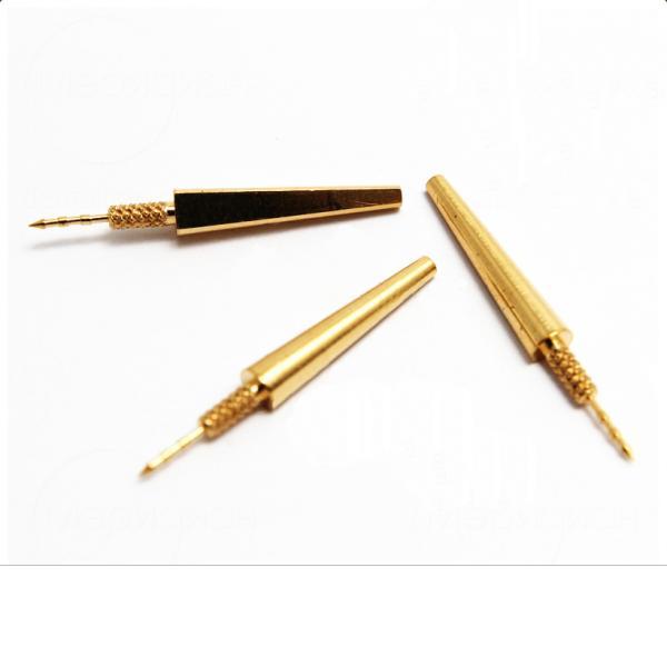 Dowel Pin - (Штифт Довель-Пин со штекером латунный 3.2 х 28мм) - 100шт