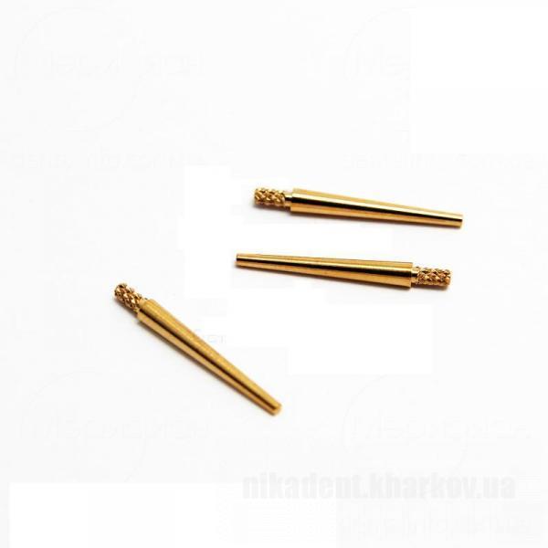 Фото Для зуботехнических лабораторий, АКСЕССУАРЫ, Инструменты Dowel Pin - (Штифт Довель-Пин БЕЗ штекера, латунный 3.2 х 28 мм) - 100шт