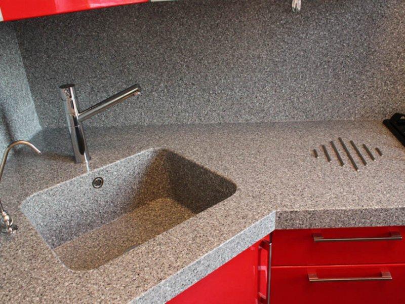 Столешницы из искусственного камня для кухни на заказ в гродно