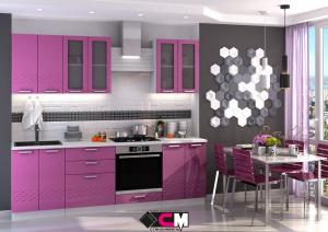 Кухня Глория фиолетовый (Стендмебель)